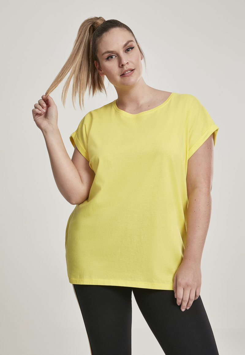 Urban Classics - EXTENDED SHOULDER TEE - Camiseta básica - brightyellow
