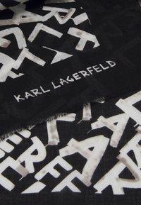 KARL LAGERFELD - GRAFITI SQUARE SCARF - Foulard - black/white - 1
