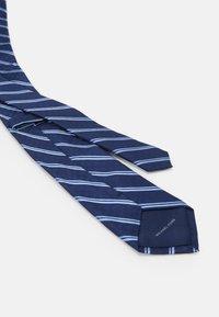 Michael Kors - CROSSHATCH AND STRIPE - Tie - navy - 1