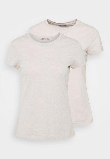 2 PACK - Jednoduché triko - beige
