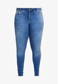 Zizzi - JPOSH LONG AMY SUPER SLIM - Jeans Skinny Fit - blue denim - 3