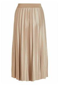 Vila - Pleated skirt - sandshell - 5
