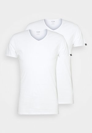 BASIC  VNECK 2 PACK - Undershirt - white