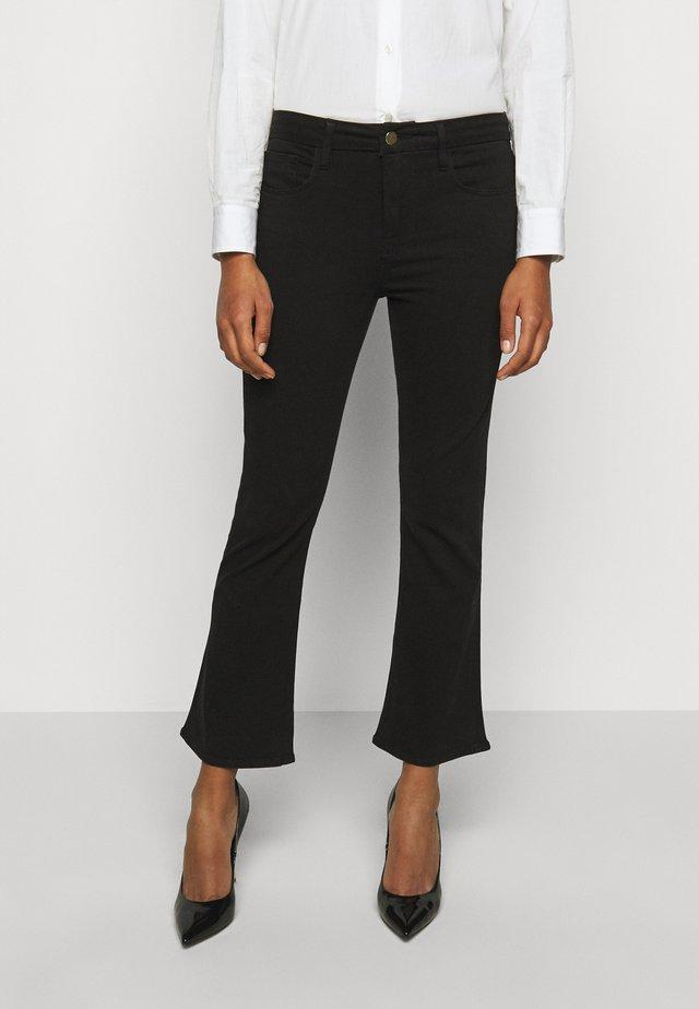 LE CROP MINI BOOT - Bootcut jeans - noir