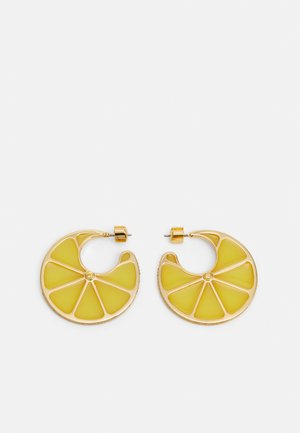 TUTTI FRUITY LEMON HOOPS - Náušnice - yellow