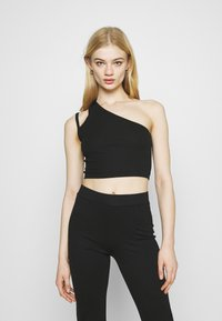 Weekday - STRAP CROP 2 PACK - Top - green/black - 3