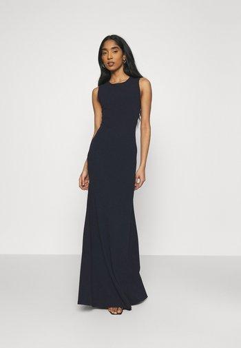 CROSS BACK BRIDESMAID DRESS - Jerseykjole - navy