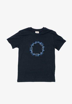 PEUTEREY  CON LOGO STAMPATO - T-shirt print - blu