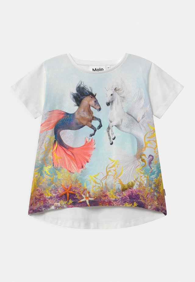 RISHA - Print T-shirt - white