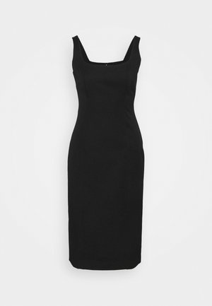 NECK SHEATH SOLID - Denní šaty - black