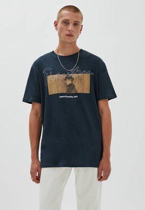 GASTON BONNEFOY - Print T-shirt - black