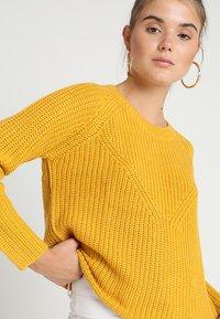 JDY - JUSTY 7/8 NOOS - Sweter - golden spice/melange - 3