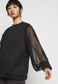 Missguided Petite - TULLE SLEEVE  - Sweatshirt - black - 3