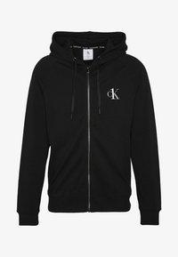 LOUNGE FULL ZIP HOODIE - Pyjama top - black