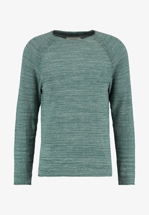 Strickpullover - mottled green