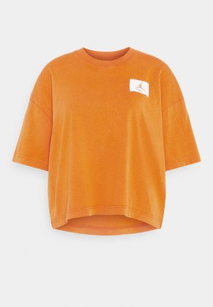 ESSENTIAL BOXY TEE - T-shirts print - russet