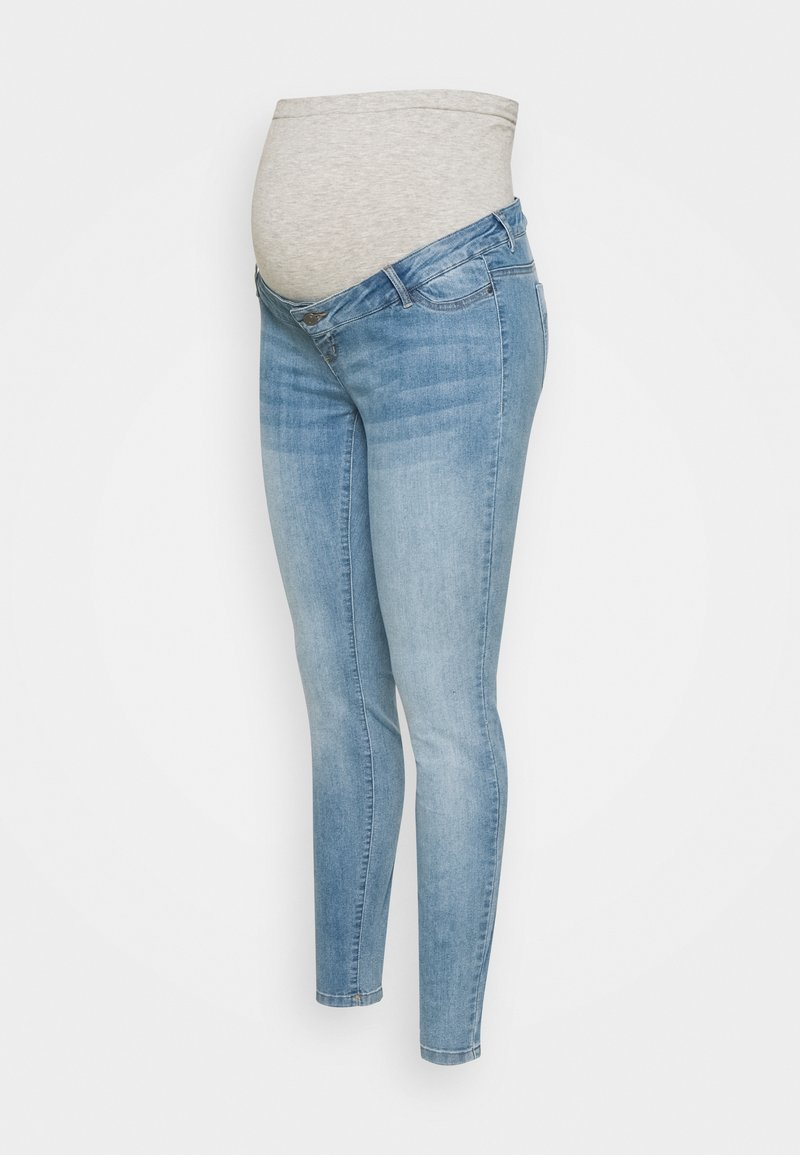 Mamalicious Curve - MLJULIA - Slim fit jeans - light blue denim