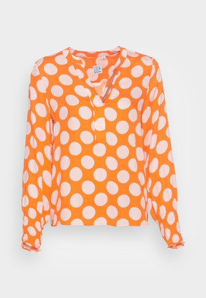 BLOUSE - Blouse - orange rose dots
