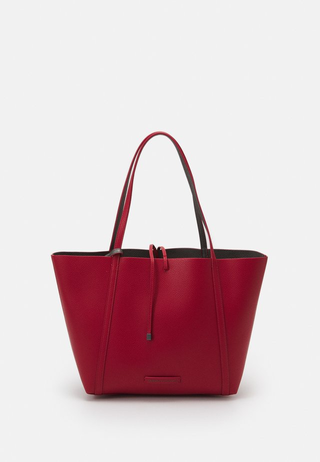 PEBBLE REVERSIBLE TOTE - Shopping bag - rosso
