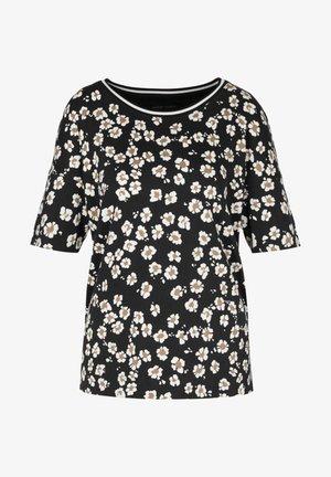 Camiseta estampada - schwarz