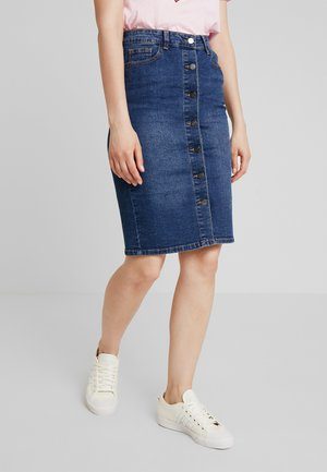 VISKYLAR SKIRT - Spódnica jeansowa - medium blue denim