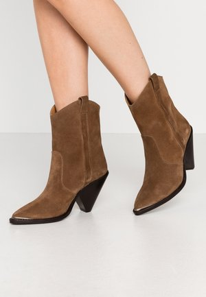 High heeled ankle boots - basket oscuro