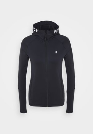 RIDER ZIP HOOD - Fleece jacket - black