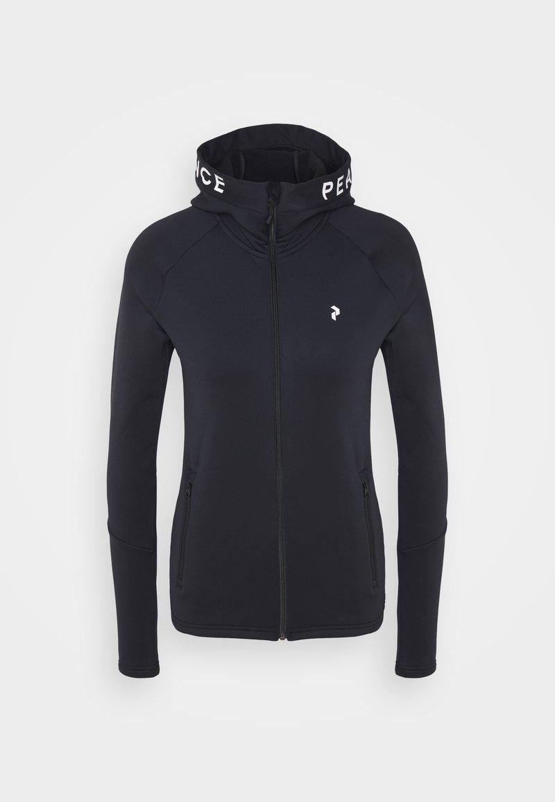 Peak Performance - RIDER ZIP HOOD - Fleece jacket - black