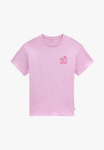 WM LUCKY 66 OS S/S - Print T-shirt - orchid