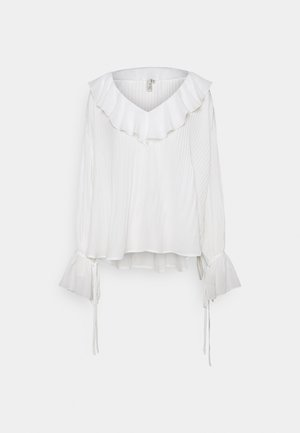 TIED TO YOU BLOUSE - Long sleeved top - white