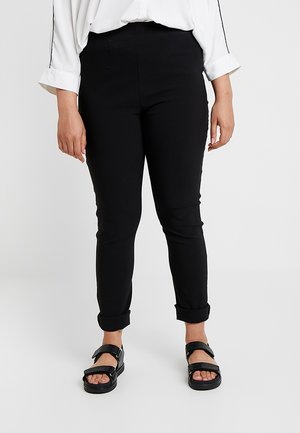 INTEGRATED WAIST - Trousers - black