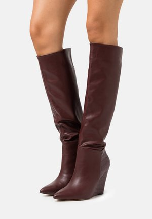 JINGLE - High heeled boots - mulberry