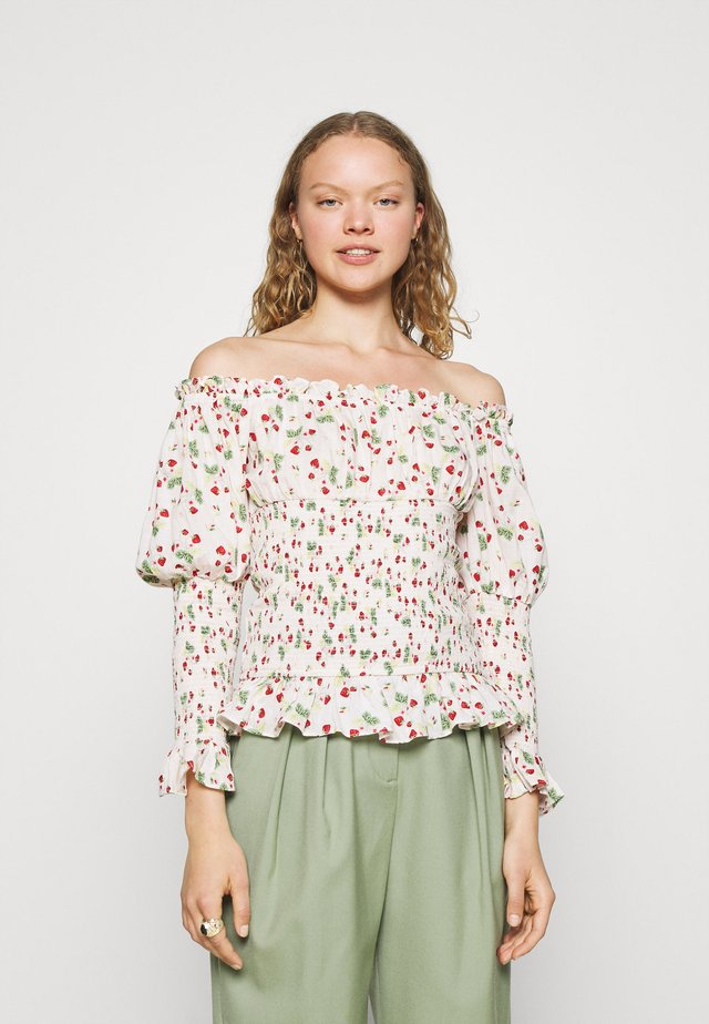 SMOCKING BLOUSE - Camicetta - red