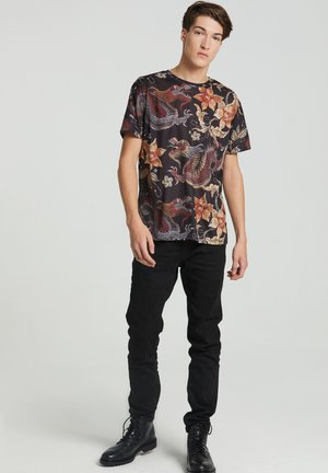 JAPANESE DRAGON  - T-shirt med print - black