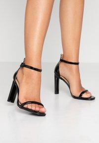BEBO - CLAIRE - Højhælede sandaletter / Højhælede sandaler - black - 0
