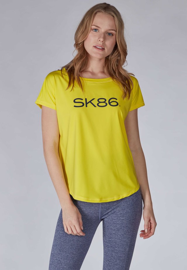 Print T-shirt - blazing yellow