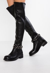 WAY OUT LONDON - Over-the-knee boots - rock nero - 0