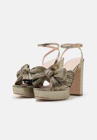 Loeffler Randall - NATALIA - Sandály na vysokém podpatku - gold lame - 2