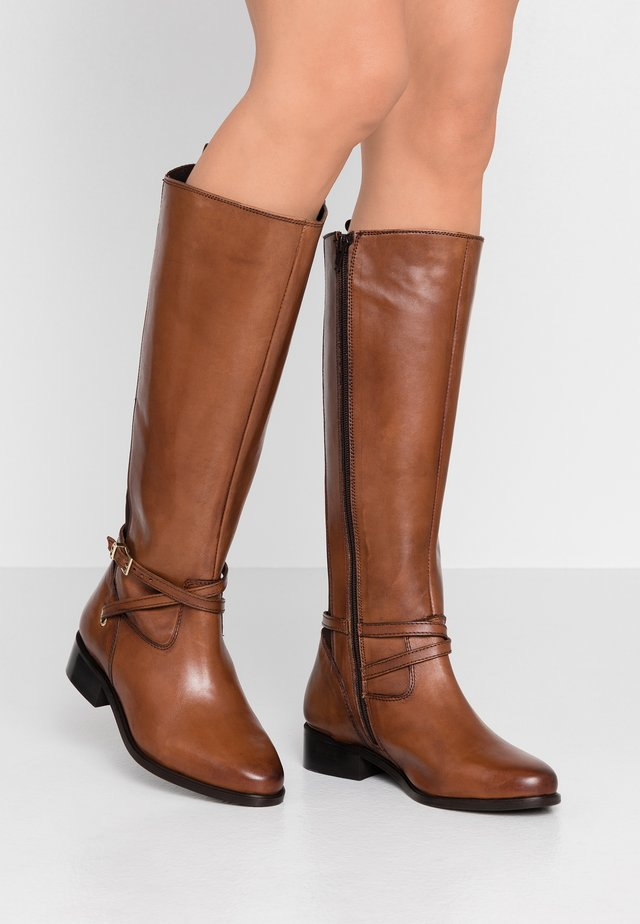 WIDE FIT TRUE - Bottes - tan