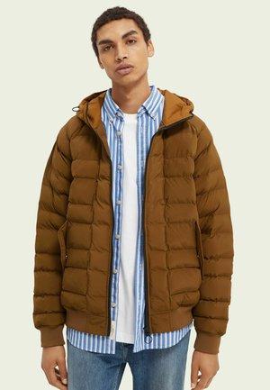 Down jacket - tabacco melange