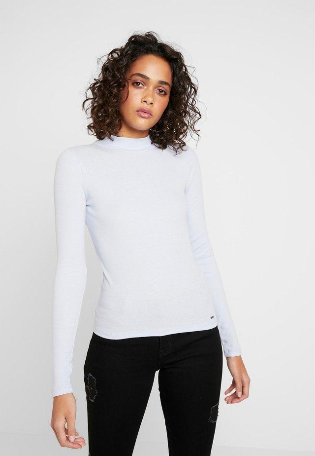 SLIM MOCK - T-shirt à manches longues - xenon blue