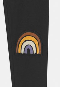 Lindex - MINI RAINBOW UNISEX - Leggings - Trousers - off black - 2