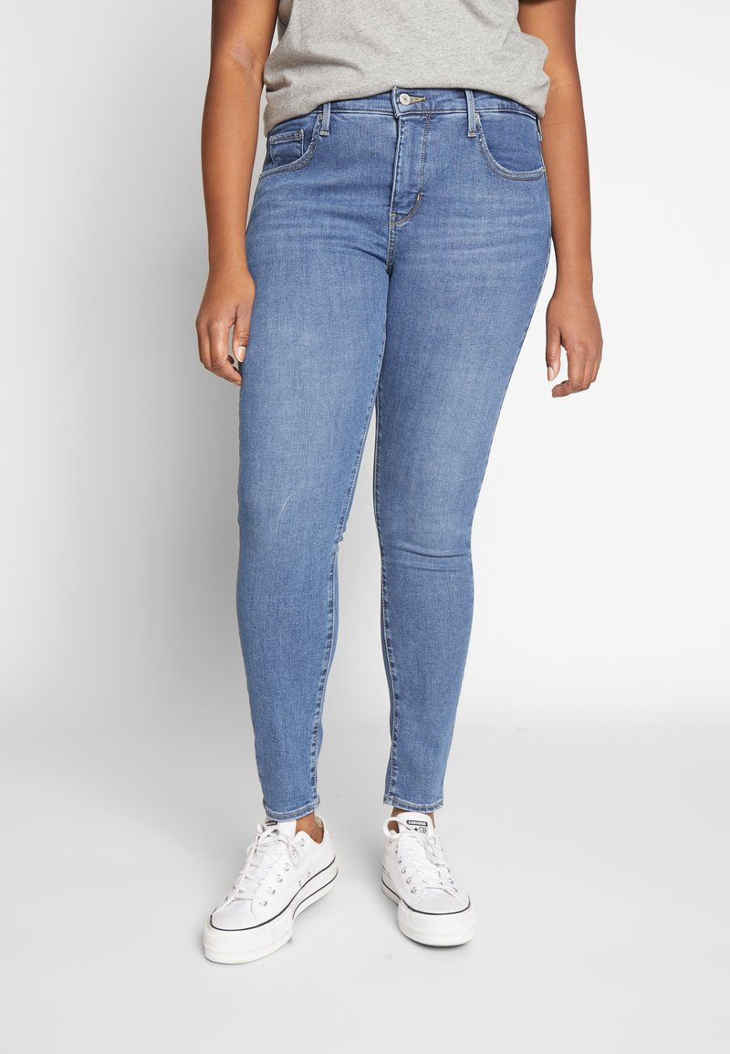 Levi's® Plus - SHPING - Jeansy Skinny Fit - tempo blue