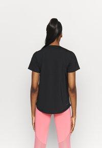 adidas Performance - TECH  - T-shirt imprimé - black/white - 2