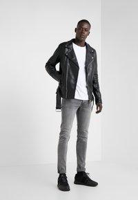 Bruuns Bazaar - FELIX JACKET - Leather jacket - black - 1