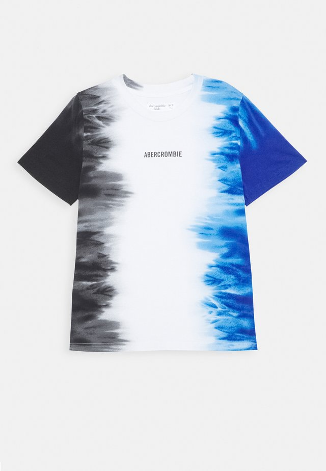 Print T-shirt - black/white/blue