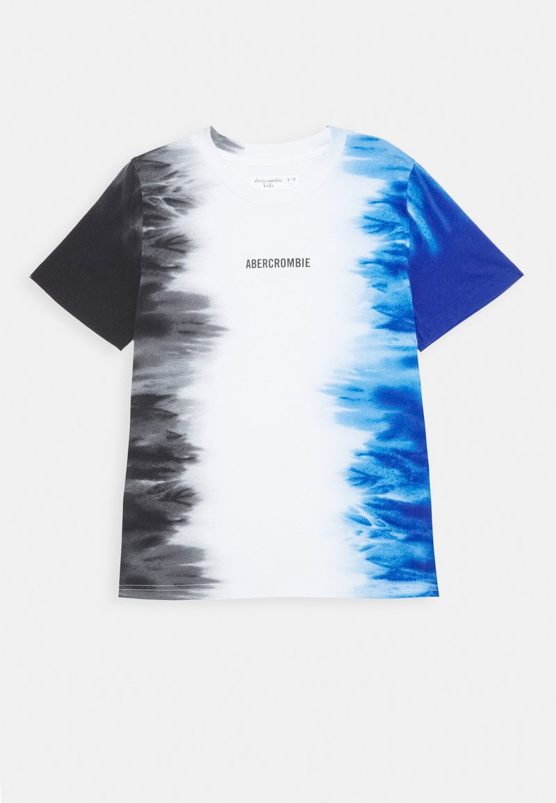 Abercrombie & Fitch - Print T-shirt - black/white/blue