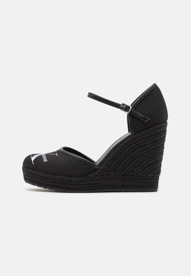 WEDGE CLOSE TOE  - Scarpe con plateau - black