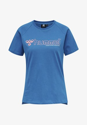 HMLZENIA  - Print T-shirt - mykonos blue