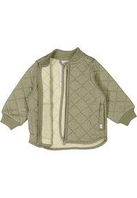 Wheat - Winter jacket - green melange - 2